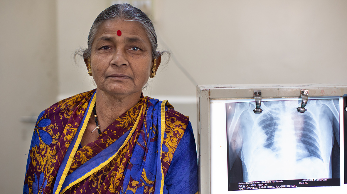 """I am so happy to be cured, and that there is a public system where we can go and be taken care of, free of cost,"" said Kashid, who completed her TB treatment in October. ""I have two daughters and they are both teachers,"" she added proudly"